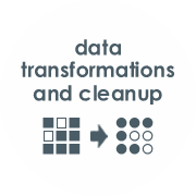 Alchemize performs large or complex data transformations and migrations with automated data cleanup